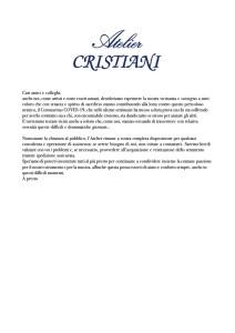 lettera Covid Atelier Cristiani